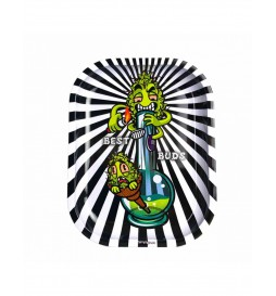 Best Buds - Metal Rolling Tray Small (Bong) - 14x18x1.5cm