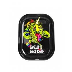 Best Buds - Metal Rolling Tray Small (Unicorn) - 14x18x1.5cm