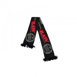 RAW - Scarf - Black winter scarf with logo