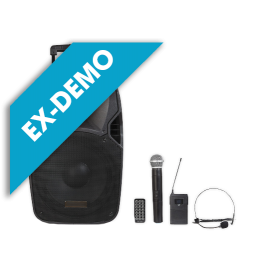 """(ED) Portable Amplified Speaker (15 """"Woofer) with Bluetooth and MP3"""