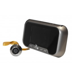 Electronic peephole for door with display and micro camera