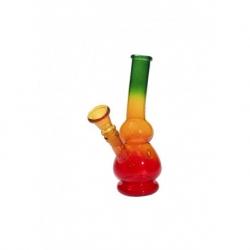 Bong in vetro 18 cm colorato