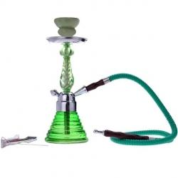 Green glass hookah (32 cm)