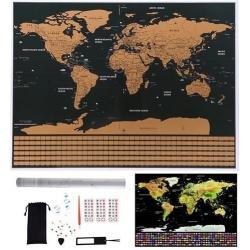 Mappa del Mondo da Grattare XXL