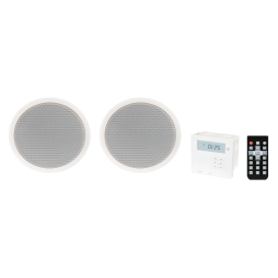 Recessed Amplifier with 2 Ceiling Speakers - Fonestar