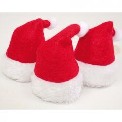 Cappellini decorativi natalizi per bottiglie (3 per confezione)
