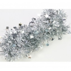 Christmas Festoons with Silver Stars 200x4cm