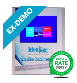 """(ED) Wall-mounted Multimedia Totem with 15 """"Touchscreen and Printer"""