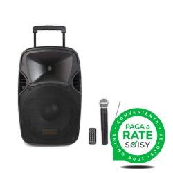 """Cassa Portatile Amplificata (Woofer 15"""") con Bluetooth e MP3"""