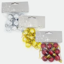 Palline Colorate Natalizie Small per Casa e Pacchi Regalo (confezione da 9 Pezzi)