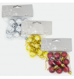 Small Colored Christmas Balls for Home and Gift Packs (Pack of 9 Pieces)