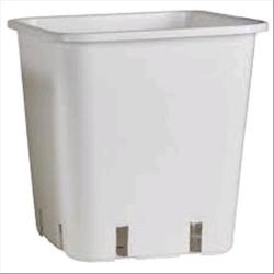 Vaso Quadrato Bianco 11 Litri - 22x22x26cm