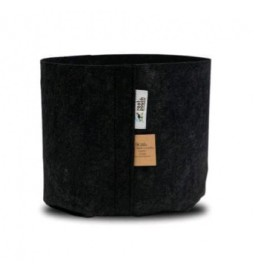 Root Pouch Black - Container vase in black fabric (16L)