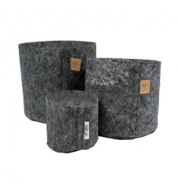 Root Pouch Charcoal - Container vase in charcoal fabric (30L)