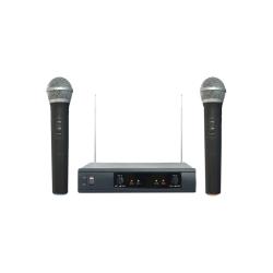 2 Microfoni Wireless con Ricevitore VHF