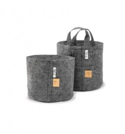 Root Pouch Gray - Gray fabric pot (16L)