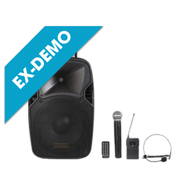 """(ED) Portable Amplified Speaker (12 """"Woofer) with Bluetooth and MP3"""