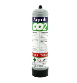 Aquili - Disposable carbon dioxide cylinder (0.5Kg) with 11x1.5 pitch